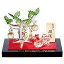 干支(酉・とり)置物 金箔入和硝子 正月飾り 手作り 「金のなる木と金尾酉(どり)」【送料無料】