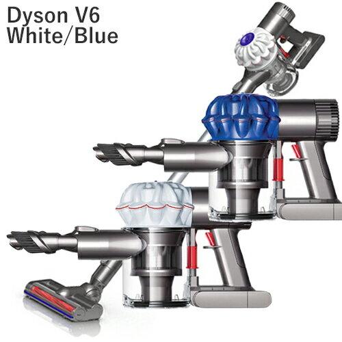 Dyson V6 Origin Cordless Vacuum (Certified Refurbished) ダイソン v6 オリジン リファービッシュ コードレスクリーナー ホワイト/ブルー(DC61 DC62 スリムプロ 同等機種) 米国正規品 並行輸入品 1年保証付 新生活