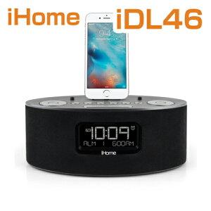�����ۡ���iDL46���ԡ�����/iHomeiDL46LightningDockClockRadioandUSBChargeReson8PlayforiPod/iPadandiPhone5,5S,6,6Plus,6S,6SPlus,iPadAir,iPadMini�ƹ���������