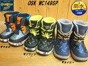 ♪OSHKOSH OSK WC149SP▼マルチ ブラック ネイビー▼オシュコシュ キッズ ウインターブーツ 子供長靴(4cm×4時間の防水設計)(13cm-19cm)折りたたみ式スパイク付き