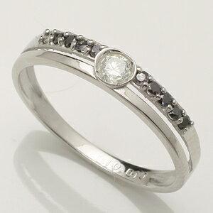 11石 ブラックダイヤモンド リング Pt900 プラチナ900 指輪「4R0258PBL」【送料無料】 *