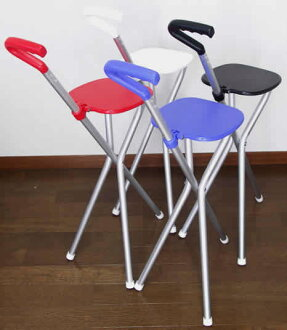 As the Chair a little useful ステッキチェアー handy sports seats, outdoor life as a walking stick!