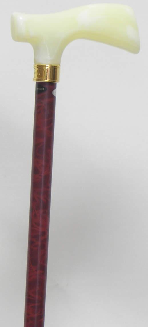 軽量ステッキ 丈夫な杖 チタンステッキ(杖)L字型 アイボリー 【送料無料】
