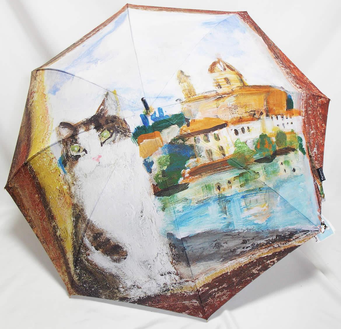 「マンハッタナーズ サンタ・トリニータ橋のフィデリコ 長傘」 【送料無料】 雨傘 Manhattaner's 婦人・女性用長傘 紳士用