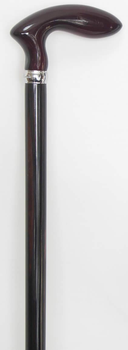 さくら(桜)ゴルフ型黒檀ステッキ(杖) 【送料...の紹介画像3