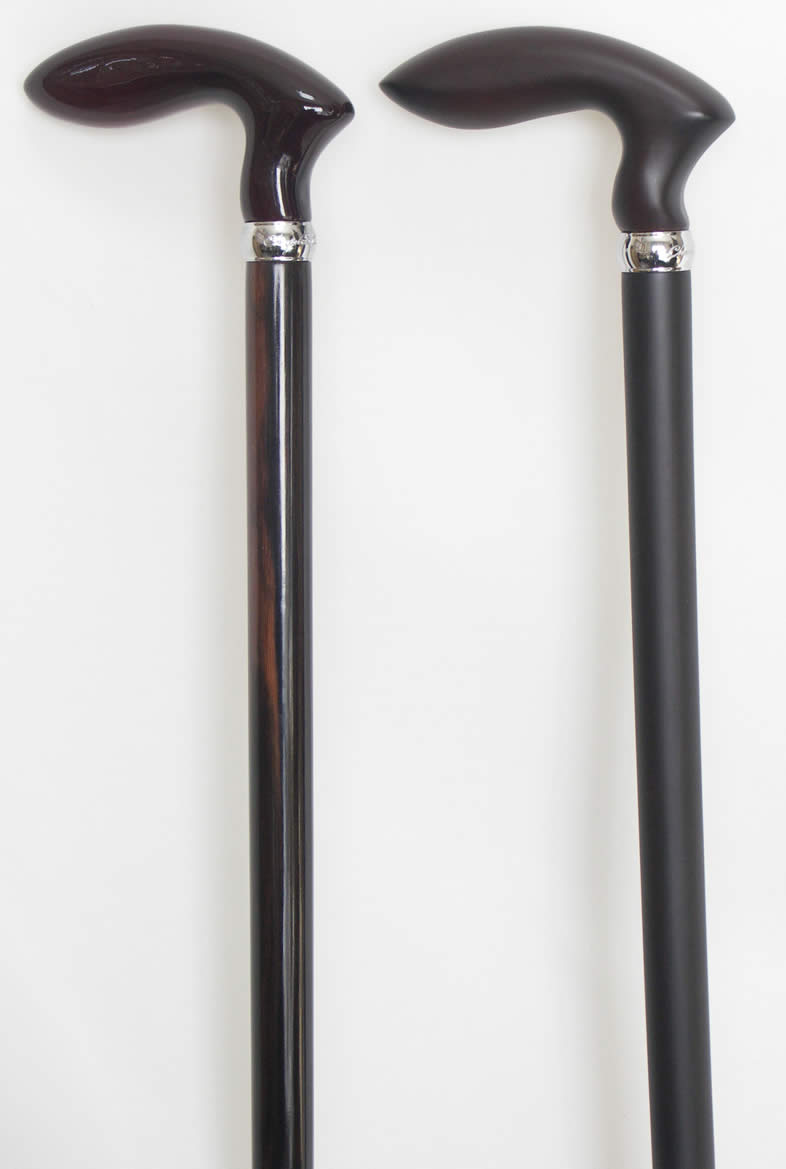 さくら(桜)ゴルフ型黒檀ステッキ(杖) 【送料...の紹介画像2