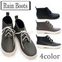 レインブーツ レディース GS-9353 ショートブーツ レインシューズ 紐靴 ローヒール 防水 雨靴 ブラック(黒) ジェットブラック カーキ Cグレイ /YN