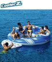 ブルーカリビアンアイランド 315cm×315cm×70cm フロート プール 水遊び ジェットスキー 海 川 マリン リゾート