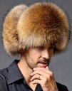 防寒 ロシア帽 毛皮 ファー フライトキャップ 飛行帽 トラ...