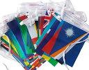 【SCGEHA】 オリンピック 応援グッズ 万国旗 100か国 運動会 スポーツ 国際交流 連旗 2