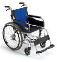 【送料無料】アルミ自走車いす BAL-1 (ブルー(A-2)ナイロン)【ミキ】 W1748【02P06Aug16】