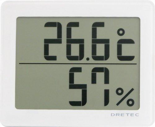 【送料無料】DRETEC デジタル温湿度計 「アクリア」 ホワイト O-226WT【02P06Aug16】