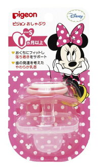 Pigeon P pacifiers 0 month over/s Minnie mouse.