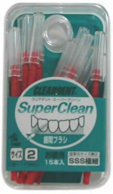 広栄社 クリアデント 歯間ブラシ徳用15P 3S...の商品画像