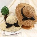 ショッピング軽量 レディース おしゃれ ストローハット つば広 折りたたみ 通気 軽量 UV対策 日焼け防止 帽子 麦わら 大きい リボン