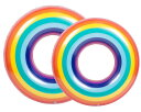 浮き輪 子供用 60cm 70cm 虹 レインボー柄 水遊び 海 プール フロート レジャー