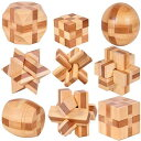 立体パズル 9種セット 頭の体操 知的玩具 孔明 パズル 3...