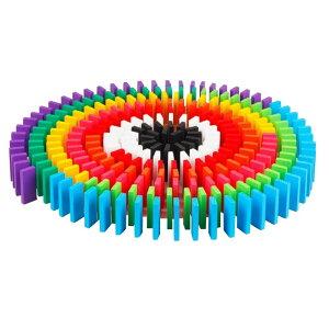 12色 240個 ドミノ倒し 積み木 知育玩具 天然木製 お