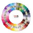 刺しゅう糸 刺繍セット カラーが豊富できれい 100色 100束 セット
