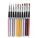 ネイルブラシセット ジェルネイル絵描きネイルペン 10本セット UVジュエルネイルツールネイル用品