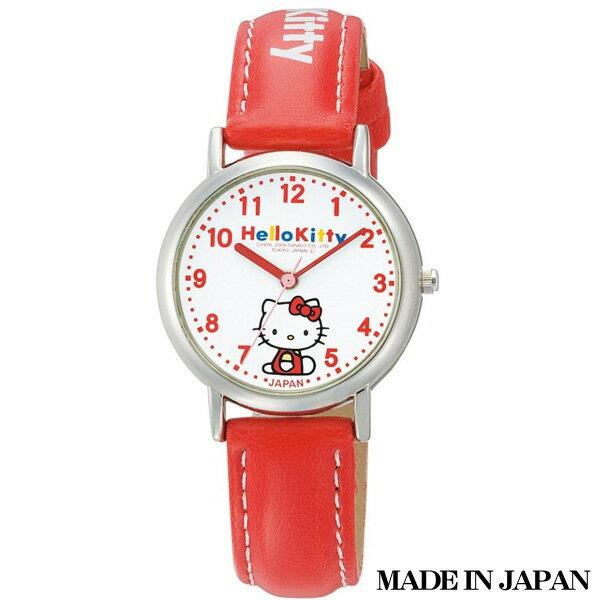ハローキティ HELLO KITTY 子供用腕時計 日本販売限定モデル キャラクターウォッチ MADE IN JAPAN (日本製) 0005N001