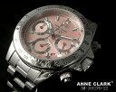 機能美と洗練されたエレガントが光ります!天然ダイヤが輝くクロノグラフのレディス腕時計【ANNECLARK】アンクラークAM1012-VD22