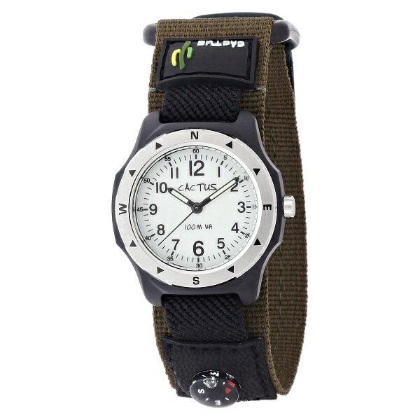 カクタス CACTUS kids キッズ腕時計 子供用時計 100M防水 蓄光ダイヤル CAC65-M12 カーキ ギフト プレゼント 記念品 誕生日
