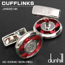 ダンヒル DUNHILL カフスボタン CUFFLINKS AD ICONIC SOIN RED パラジウムコート レッド JNS3214K ギフトプレゼント ...