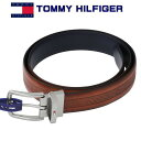 ショッピングトミーヒルフィガー トミー・ヒルフィガー メンズベルト TOMMY HILFIGER リバーシブルタイプ タン(ブラウン)ネイビー 11TL01xz28TAN/NAVY