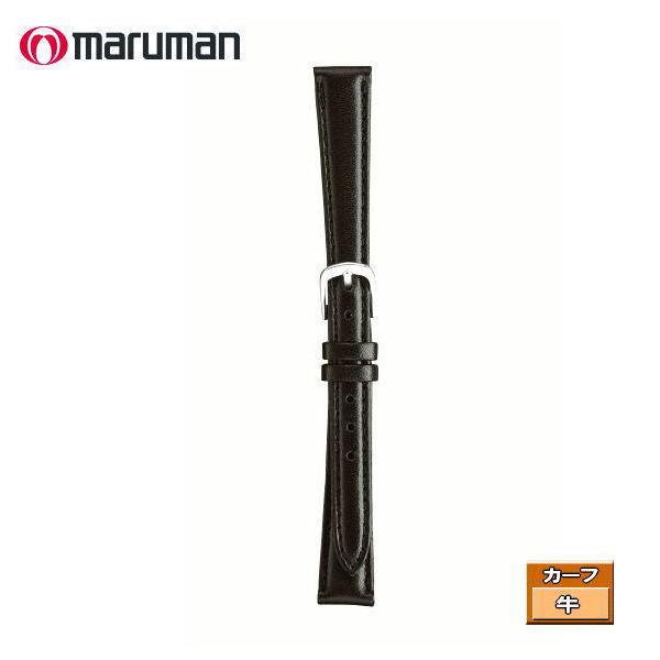 マルマン 婦人皮革バンド カーフ 黒 ステッチ入り 時計際幅 14mm 美錠幅 12mm DM便利用で送料無料(代引き不可)