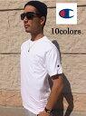 2枚までメール便180円対応 チャンピオン Tシャツ US CHAMPION チャンピオン 袖ロゴ 半袖Tシャツ 袖 ワッペン ワンポイント 無地 USAモデル ワンポイントtシャツ ロゴtシャツ メンズ アメカジ 本国 シンプル 刺繍