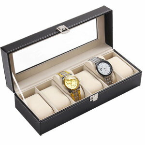 NEX 6スロットレザー腕時計ボックス ディスプレイケース