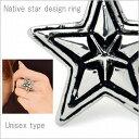 リング 指輪 メンズ ネイティブ系 スターデザイン 星 トレンド ユニセックス