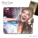GALAXY SIII Progre SCL21 専用 スマホケース 手帳型 PHOTO 女性 音楽 ヘッドホン [d017602_04] au (ポスター01) ギャラクシー スマホ 手帳ケース 携帯 可愛い おしゃれ ブックレットタイプ