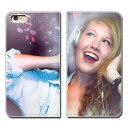 iPhone XR 6.1 iPhoneXR ケース 手帳型 ベルトなし PHOTO 女性 音楽 ヘッドホン スマホ カバー ポスター01 eb17602_04
