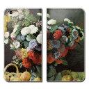 Xperia 8 902SO スマホ ケース 手帳型 ベルトなし モネ 花と果物のある静物 スマホ カバー 絵画03 eb22602_03
