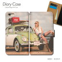 Tiara Disney Mobile on docomo スマホケース DM-01J クラッシック01 手帳型 [d028203_01] クラシックカー アメ車 レトロ ビンテージ