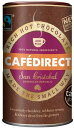 Cafedirect、リッチ ホットチョコレートパウダー 2 in 1; 250g (8.81オンス)、ドミニカ共和国、サンクリストバル供給、イギリス製