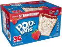 ショッピングトースター ポップターツ トースターのペストリー、つや消しイチゴ、36 カウント ボックス Pop-Tarts Toaster Pastries, Frosted Strawberry, 36-Count Box