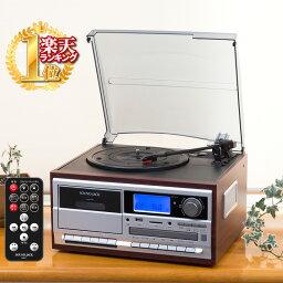 レコードプレーヤー レコードプレイヤー スピーカー内蔵 CD録音 レコード カセット CD ラジオ プレーヤー デジタル化 録音 ダイレクト録音 ギフト カセットプレーヤー カセットプレイヤー CDプレーヤー CDプレイヤー MP3 送料無料