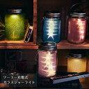 ソーラー充電式ライト Grass Jar ガラスジャーライト...