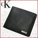 【着後レビューでメール便送料無料】 カルバン・クライン Calvin Klein 本革 レザー ロゴプレート 二つ折り 財布 [ 79215 ] ck カルバンクライン ショート ウォレット さいふ サイフ 折財布