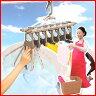 送料無料 ツウィンモール アルミのびのび7連ガー [ TA-7 ] グレー 7連ハンガー 室内干し 屋外干し 物干し ハンガー 洗濯ハンガー 物干しハンガー アルミハンガー