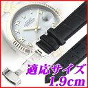 腕時計用交換ベルト 1.9cm ブラック ブラウン バネ棒2本 バネ棒外し付き Dバックル 腕時計 交換ベルト 時計ベルト 時計バンド ウォッチストラップ レザーベルト ベルト クロコ型押し 本革 牛革 時計 1.9センチ 19mm メール便