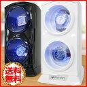 【送料無料】 ワインディングマシーン 2本 2本巻 [ VS-WW012 ] 縦型ツイン LED マブチモーター 自動巻き 腕時計 ウォッチワインダー ワインダ...