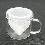 GO型耐熱ガラスカップ ティーメイトクリアハーブティーマグカップ:耐熱ガラスティーカップ:ハーブティーカップ:ハーブティーティーカップ:耐熱カップ:茶器