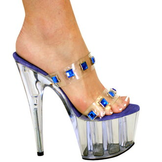 7 inches of high-heeled shoes / pin heel Lady's sandals / import shoes
