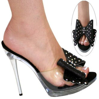5 inches of Swarovski crystal use high-heeled shoes / pin heel Lady's sandals / import shoes / mules