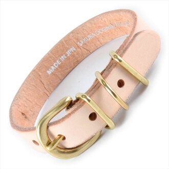 This SAKURA DOGWARE ベーシックメニカラ /BasicManyColors natural soft leather / real leather hand finish brass metal fittings collar (small dog, microminiature dog, cat use) A1325 (SS neck circumference 18.5-28.5cm)