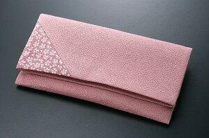 数珠袋 珠入れ 念珠入れ ちりめん 桜小紋 ピンク色 留め具なし 化粧箱入 お葬式 法事